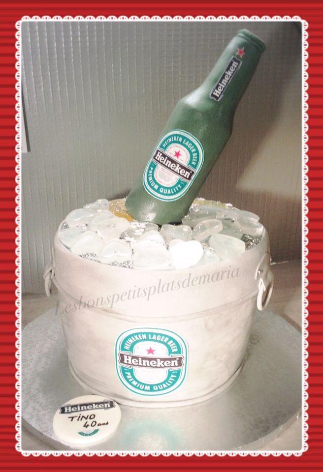 Gâteau bouteille de bière