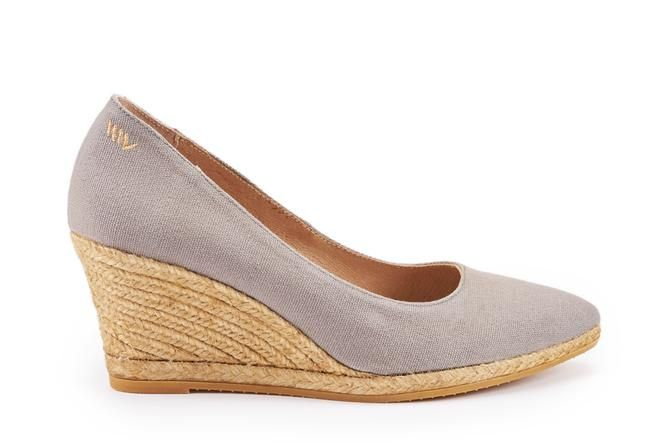 c6a043c3f24 Buy Roses Canvas Wedges - Ash Grey online