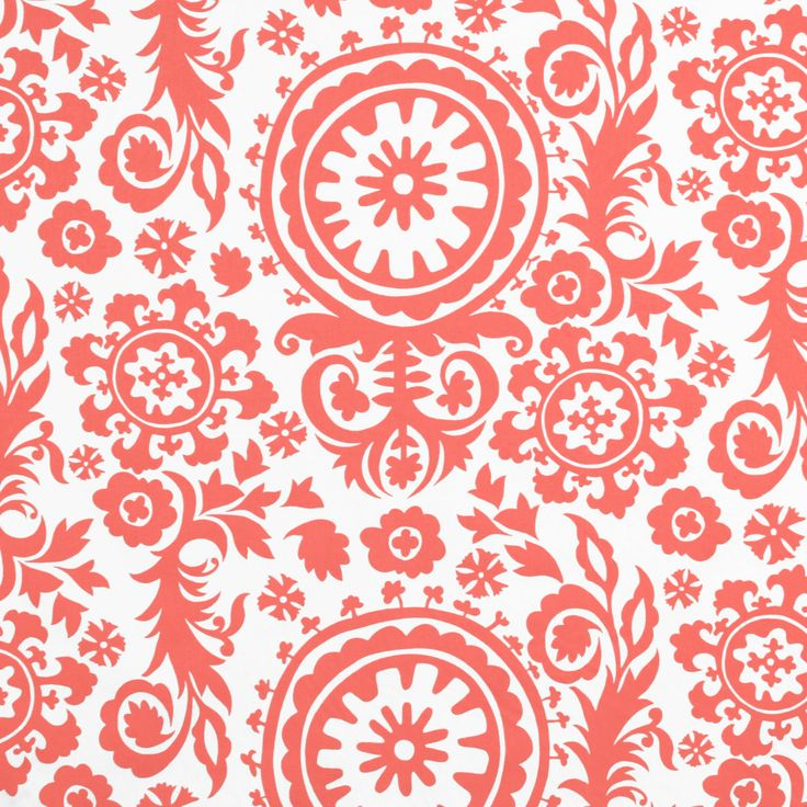 Suzani colour Coral/White Find this and other great fabrics at www.curtaineasy.co.nz