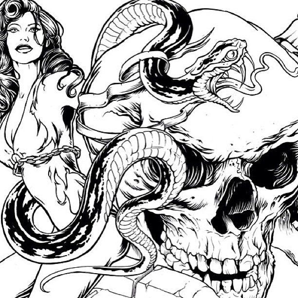 Sketches from #behindthescenes at Ecko HQ. #art #design #skulls