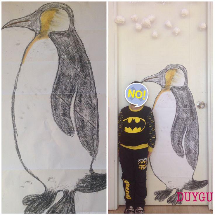 İmparator penguen ve benim boyum.