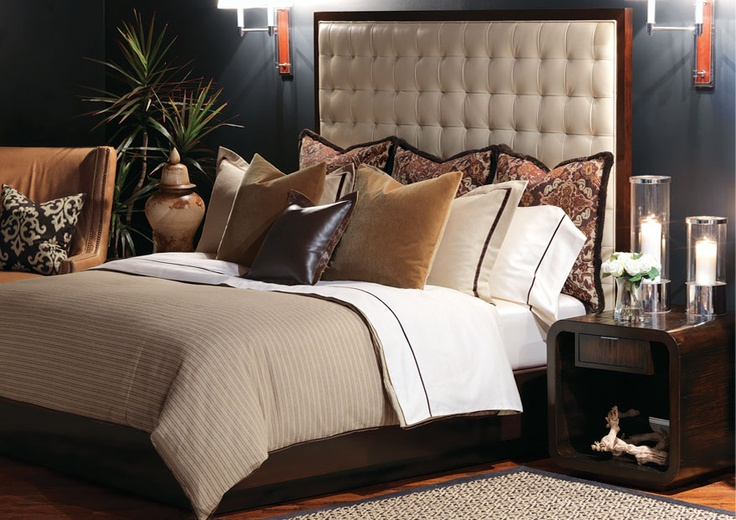 Barclay Butera Designs For Eastern Accents Neutral Plain Bedding With Rich Shams Master