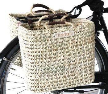 """Sacoche de vélo hollandais Basil-double """"écologique"""""""