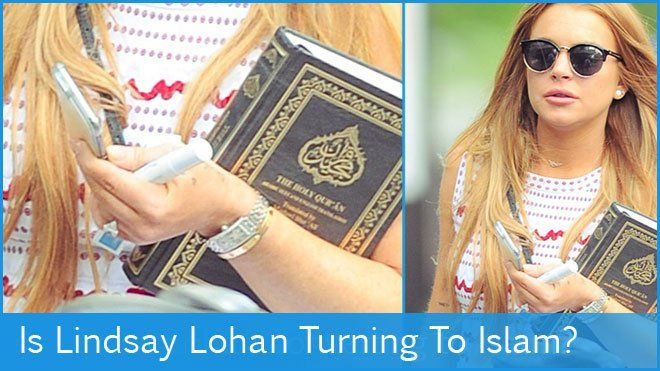 Lindsay Lohan turns to islam   read More at http://www.ultraupdates.com/2015/05/is-lindsay-lohan-converting-to-islam-she-carries-the-quran-as-she-steps-out-in-brooklyn/