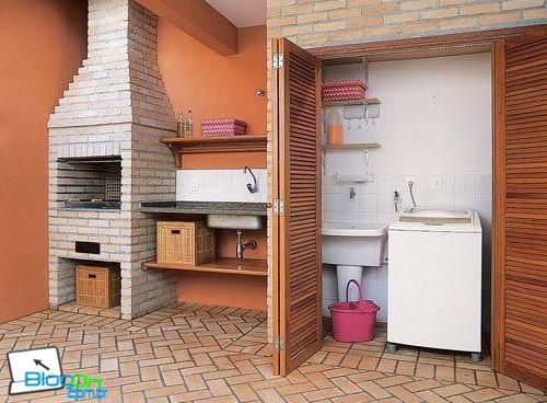 Click Fantástico: Decoração de lavanderia e churrasqueira