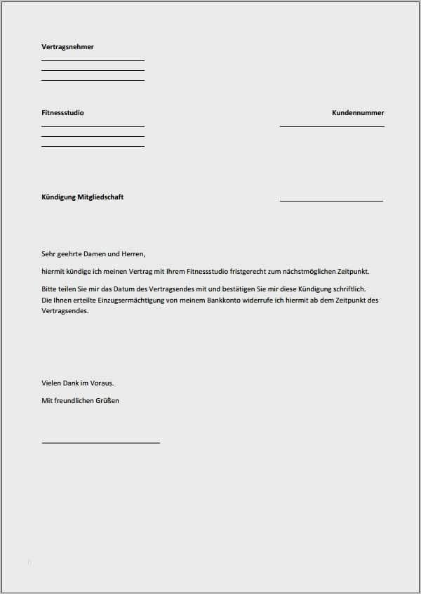 Kundigung Vorlage Fitnessstudio 30 Schon Diese Konnen Adaptieren In Microsoft Word In 2020 Kundigung Schreiben Vorlagen Word Kundigung