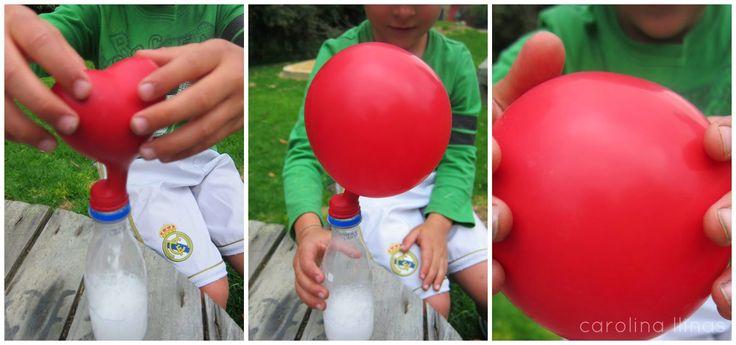 #Artividades : Inflando globos: Experimento para niños