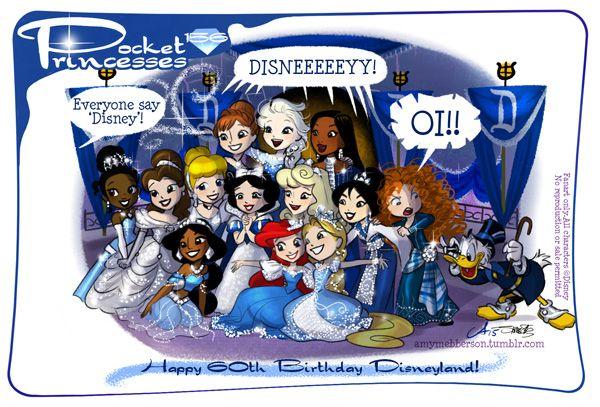 Pocket Princesses 156: Diamond Day  Happy Birthday, Disneyland (aka my personal rec room) (guest cameo by silvaniart)  Please reblog, do not repost or remove captions