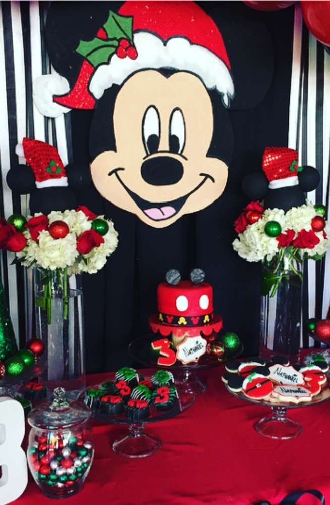 Lovely Christmas Birthday Party Ideas Part - 14: Mickey Mouse, Christmas, Birthday Boy Birthday Party Ideas