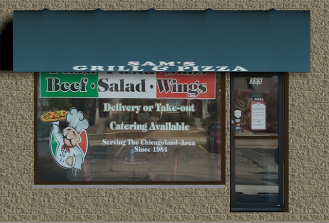 3D Model - The 3D pizza shop building model for Poser and DAZ Studio is a facade model and is perfect for any urban street or shopping center scene. The texture includes a BUMP map (However it isn't applied by default).