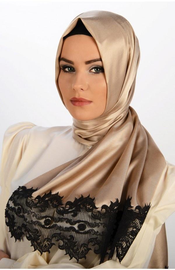 bej rengi tafta şal, dantelli şal, karacabutik, www.karacabutik.com, lace shawl, güpür şal, 2013 şal modası, 2013 tesettür modası