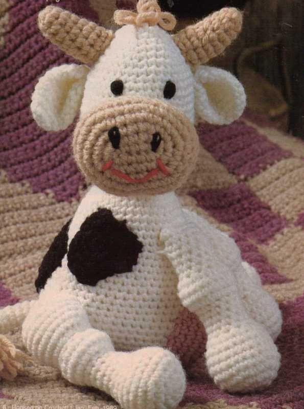 CLARA COW DOLL TOY CROCHET PATTERNFree Pattern, Vacas Clara, Free Crochet, Crochet Toy, Crochet Cows, La Vacas, Crochet Patterns, Crochet Knits, Amigurumi