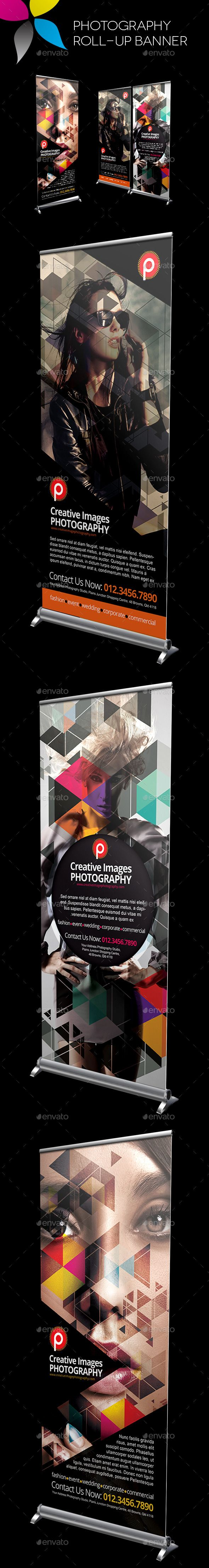 Photography Roll-Up Banner Template #design Download: http://graphicriver.net/item/photography-rollup-banner/10680028?ref=ksioks