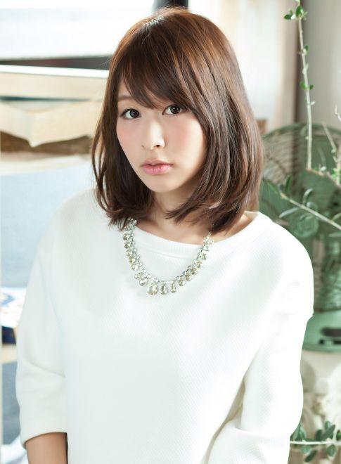 可愛すぎるミディアムストレート 【little Ginza】 http://beautynavi.woman.excite.co.jp/salon/26694?pint ≪ミディアム・ヘアスタイル・medium・hairstyle・髪形・髪型≫