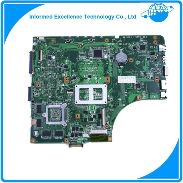 K53SV motherboard for sale good price for ASUS 2GB/1GB A53S X53S K53SC K53SJ P53SJ GT540M rev3.1 3.0 2.3 2.1 Mainboard US $66.98 /piece Specifics Products Status 	Stock Chipset Manufacturer 	Intel Form Factor 	ATX With CPU 	No Ports 	VGA,HDMI,USB 2.0,Ethernet CPU Type 	Intel Memory Type 	DDR3 Memory channel 	Double Graphics Card Type 	Non-Integrated Supports Display Output 	Yes Interface Type 	S/PDIF Coaxial  Click to Buy :http://goo.gl/f7KovS