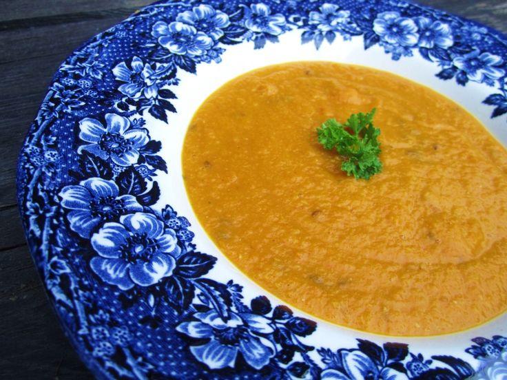 Krémová mrkvovo šošovicová polievka