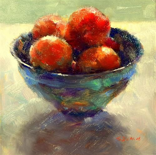 "Daily Paintworks - ""A Bowl of Freshness"" - Original Fine Art for Sale - © Sabrina Zhou"