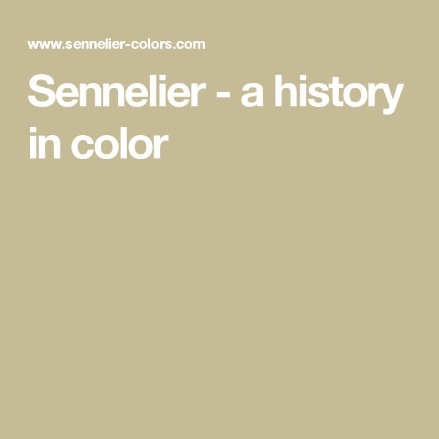 Sennelier - a history in color
