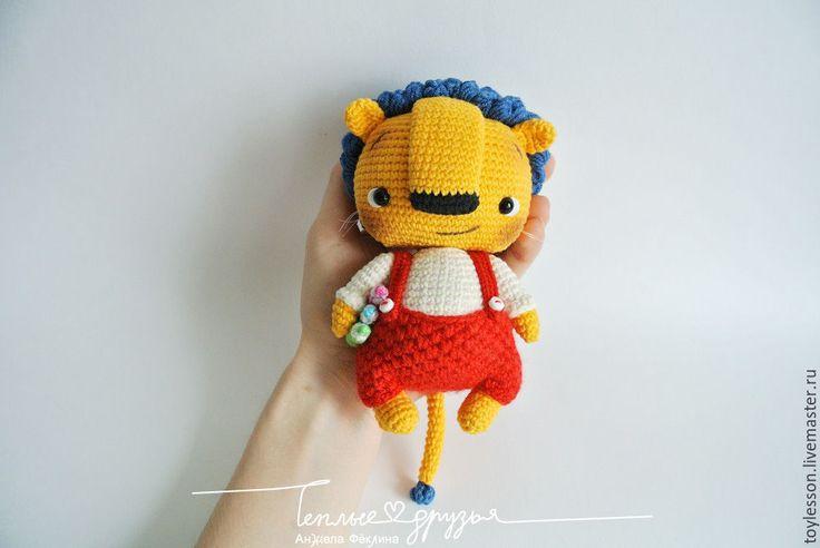 Купить Боня Фацкенштейн. Описание вязания - желтый, львенок, лев, художник, грива, карандаши, тедди