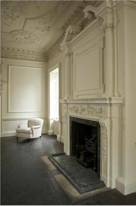 """Farrow and Ball """"Clunch""""- painted panels - forget the paintwork, it is the room itself I love."""