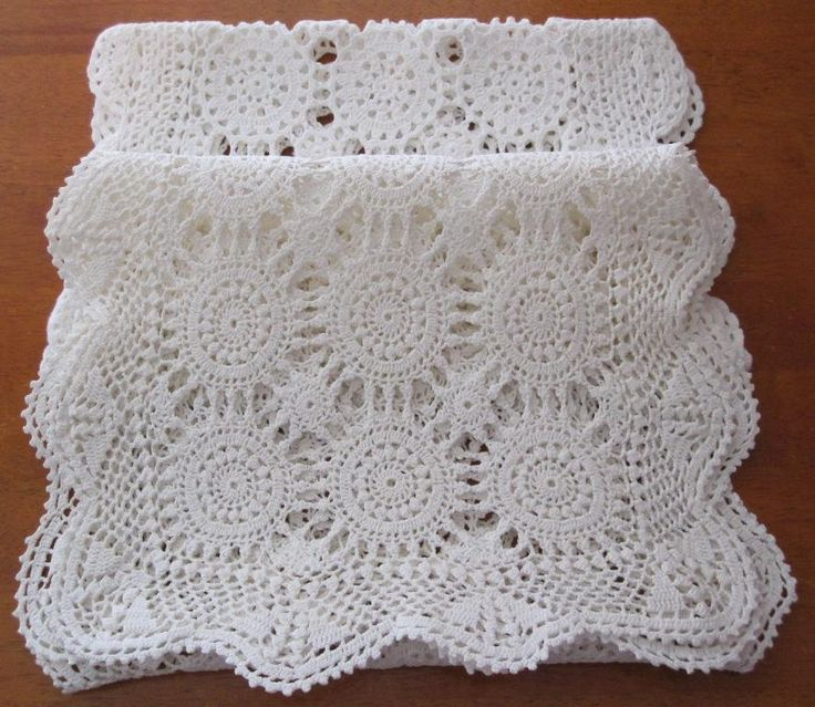 Two Vintage Crochet Table Runners in Antiques, Textiles, Linens, Lace, Crochet, Doilies | eBay SELLER ID: kathy_a1