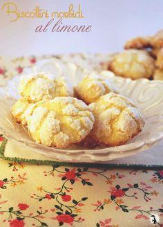 Biscottini morbidi al limone - lemon crackles cookies