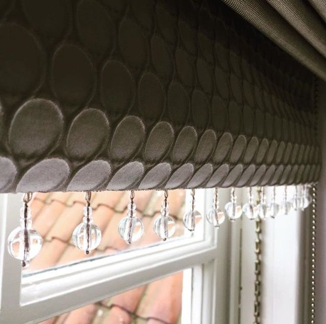 Roman Blind Beaded trim by Ellinis Interiors