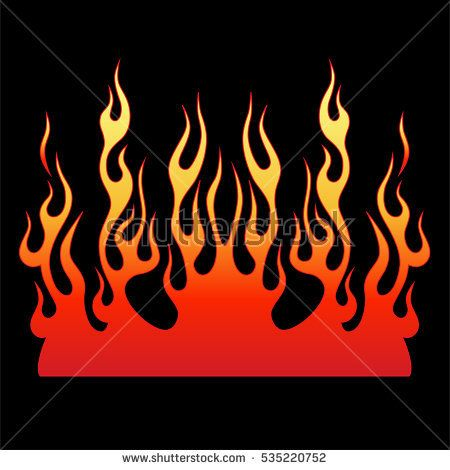 Flame vector fire. Colored tribal flames. It can be used for tattoos and other designs, as well as the creation of a logo or template.