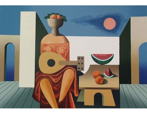 """""""Guitarrista"""", serigrafía de Mario Carreño.  http://www.artexperiencenyc.com/social_login"""