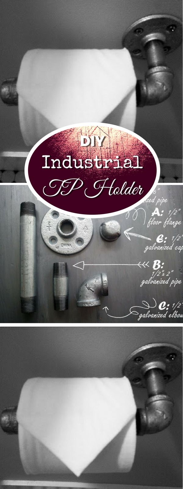 Check out how to make a quick and easy DIY industrial toilet paper holder @istandarddesign
