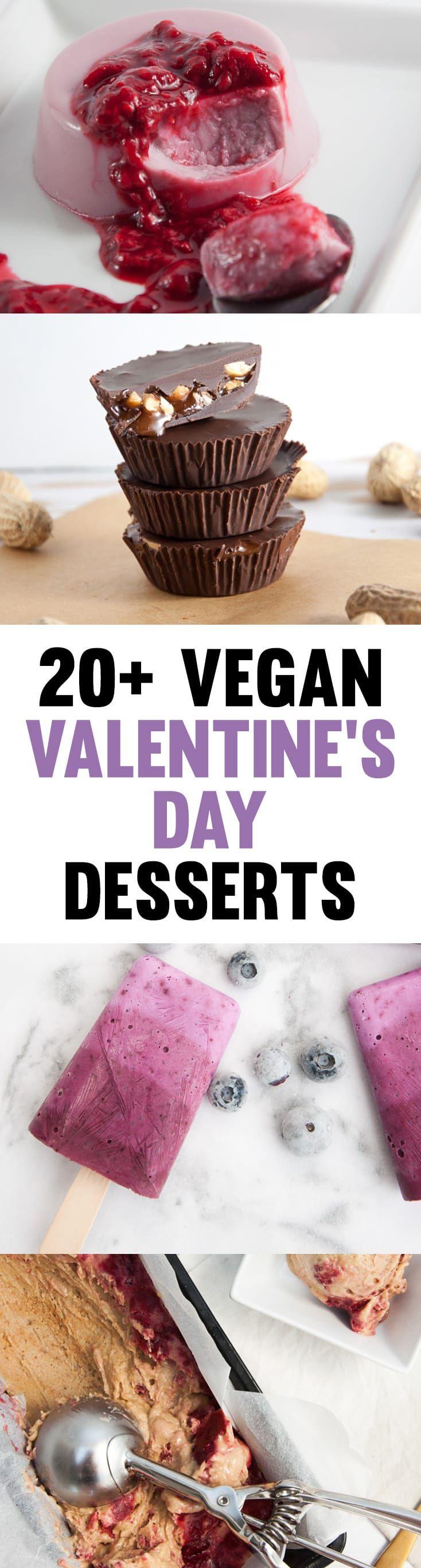 20+ Vegan Valentine's Day Desserts to make for your loved ones! | ElephantasticVegan.com #vegan #valentinesday #desserts #sweets #plantbased via @elephantasticv