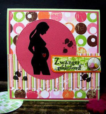 Scrapspul van Colien: Zwangerschapskaartjes.