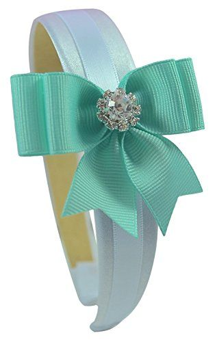 Girls Elegant Rhinestone Bow Satin Headband Funny Girl Designs (Light Aqua) Funny Girl Designs http://www.amazon.com/dp/B00U1SKAQU/ref=cm_sw_r_pi_dp_HaK8ub031XR8S