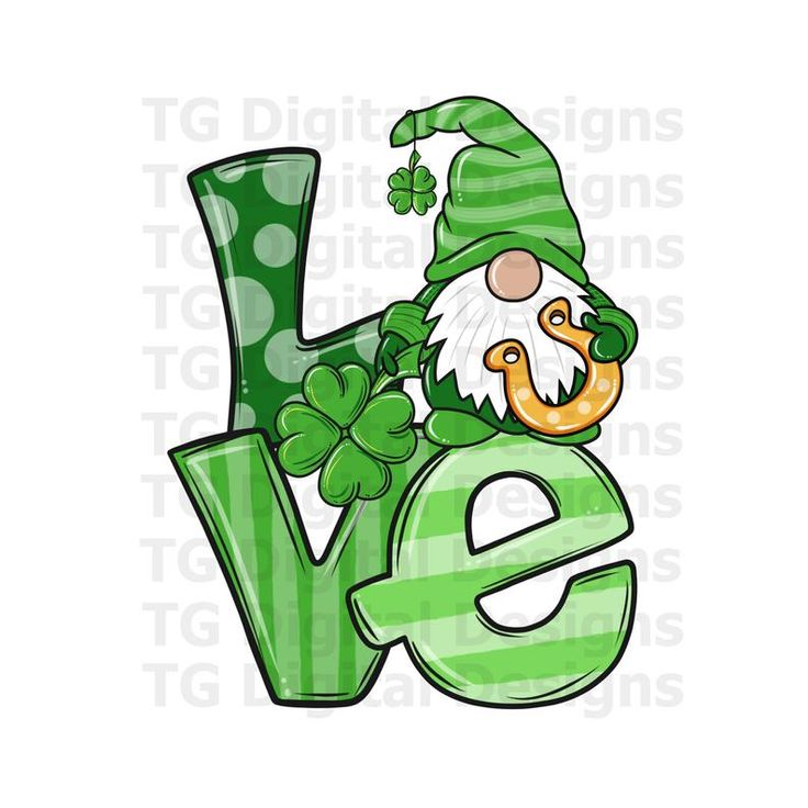 Download St Patricks Day Gnome PNG Love PNG For Sublimation St ...
