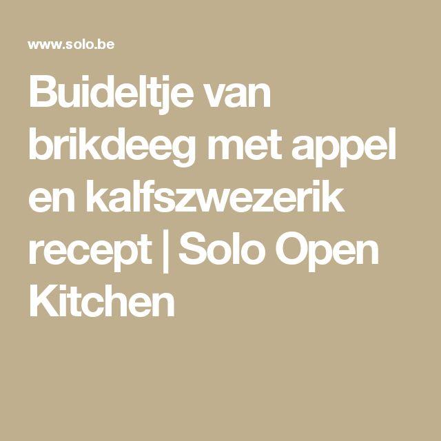 Buideltje van brikdeeg met appel en kalfszwezerik recept   Solo Open Kitchen