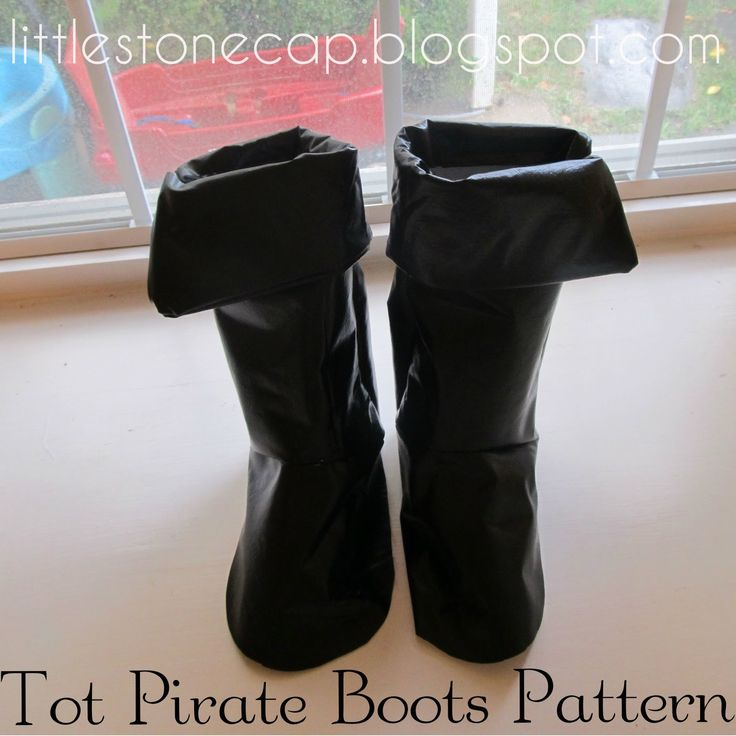 Pattern and Tutorial for Child's Boot covers (boot tops that go over kids' real shoes) Toddler size 8-9, but can be adjusted if needed