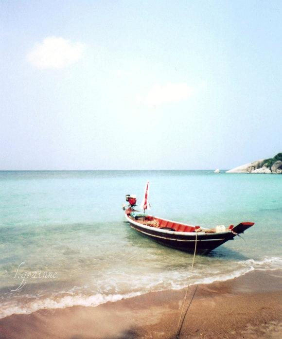 Beach ocean photography print, seagulls flying aqua indigo blue Greece  nautical wall art