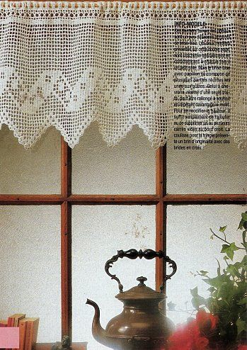 91 Best images about Crochê e tricô cortinas on Pinterest ...