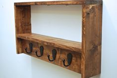 Rustic Coat Rack Entryway Coat Rack and Shelf by DynastiMillworks