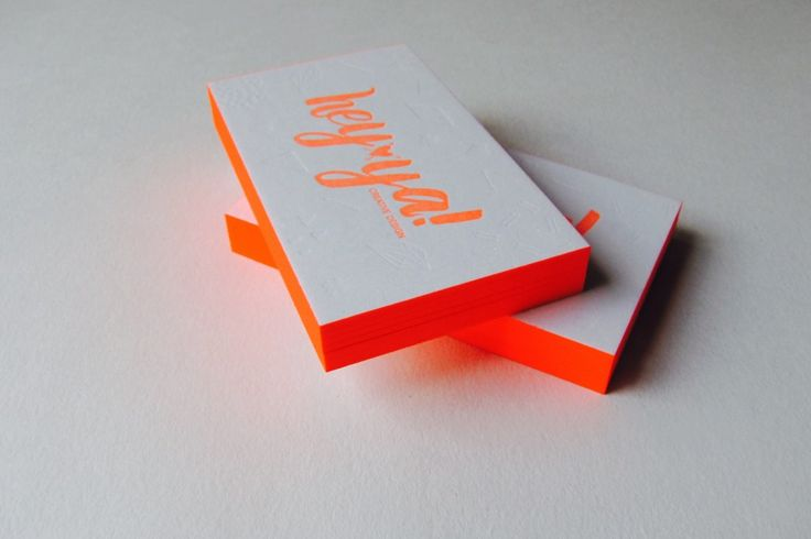 letterpress printing + neon edge colouring