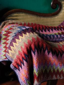 Heatwave Throw By Kaffe Fassett - Free Knitted Pattern - Click On Photo For PDF Pattern - (woolandbuttons)