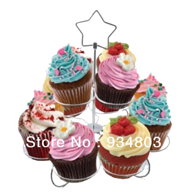 High-quality metal cupcake stand stree with 2 tiers to hold 12 wedding cupcakes $15.00