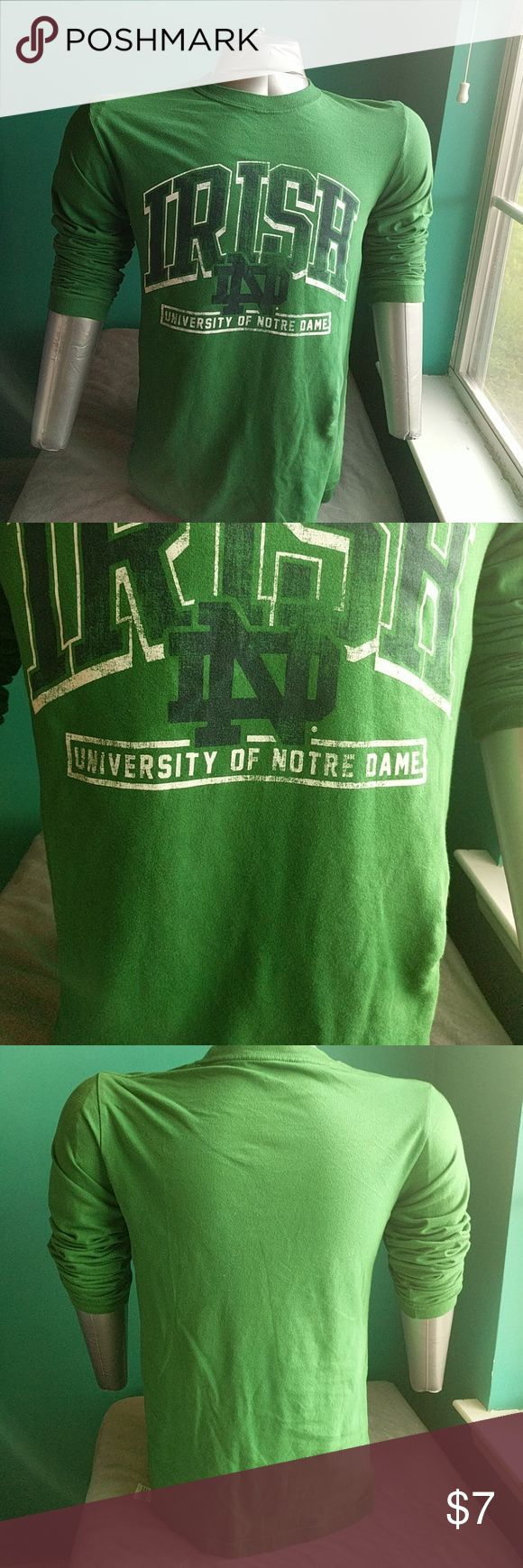 Notre Dame long sleeve t-shirt University of Notre Dame Fighting Irish long sleeve t-shirt gently used Shirts Tees - Long Sleeve