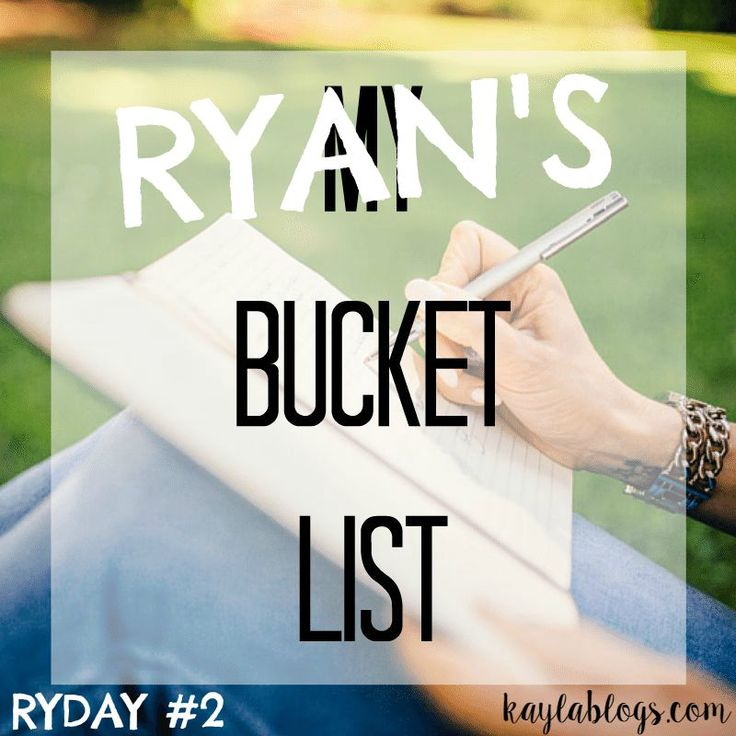 My Boyfriend's Bucket List! Ryday #2