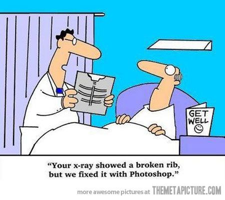 New medical approach: Ribs, Funny Pictures, Quote, Social Media, Xray, Funny Stuff, Doctors, X Ray, Photoshop