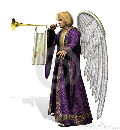 Engel Gabriel - omvat het knippen weg