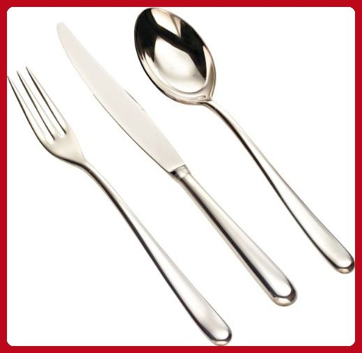"""Alessi """"Caccia"""" Flatware Set Composed Of Table Spoons, Table Forks, Table Knives Monobloc, Tea Spoons in 18/10 Stainless Steel Mirror Polished, Silver - Improve your home (*Amazon Partner-Link)"""