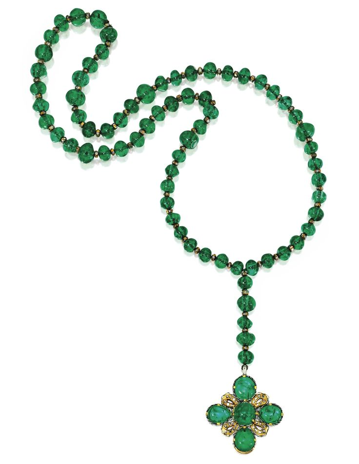 Emerald, Diamond and Enamel Rosary, German, Late 17th Century | Lot | Sotheby's