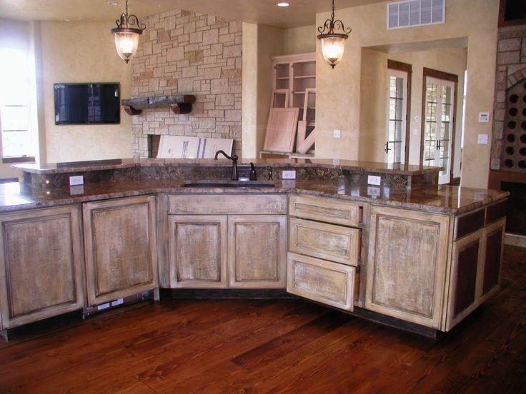 Antique Whitewash Kitchen Cabinets