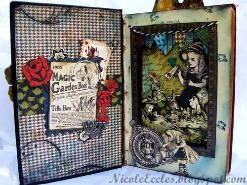 Alice: Tea Time, Art Designs, 45 Altered Book Mixed, Graphic 45, G45 Featured, 45 Scrapbook, Nicole Eccles, Featured Tea